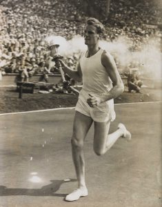 John Mark in the Olympic Stadium and Wembley at the start of the 1948 Games