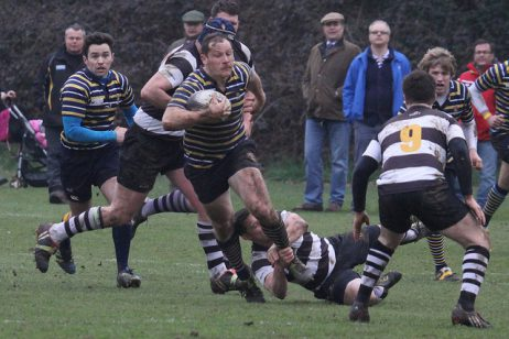 Action from the Old Cranleighan RFC 1st XV's 23-18 over Farnham, Thames Ditton, March 9, 2013