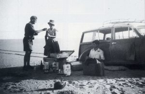 Alan Cooper (East 1926) sets off on foot for help. Cooper, a failed Kenyan coffee planter and three associates set out in April 1955 from Nairobi in a Morris Traveller to drive across Africa, through the Sahara Desert and Europe to London.  The poorly planned expedition was to end in failure and his death