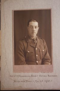 On May 4, 1915 2nd Lieutenant Vivian Llewellyn-Jones (23)  was killed . He had left in 1911. Llewellyn-Jones had already been wounded and had only just returned to the front line.