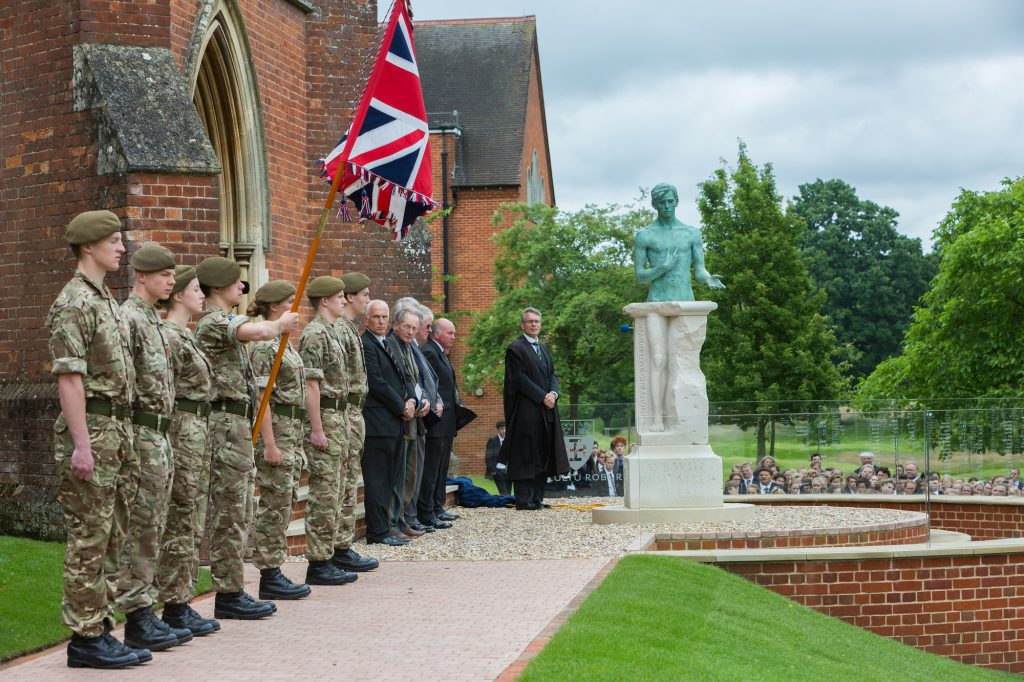 War memorial unveiling, July 1, 2016
