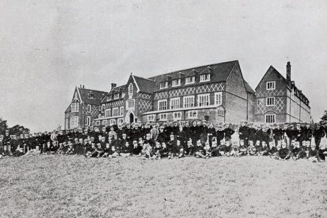 On September 18, 1866, less than a year after the School had opened, the first formal picture of the boys of the Surrey County School was taken on the South Field after the inaugural Speech Day.