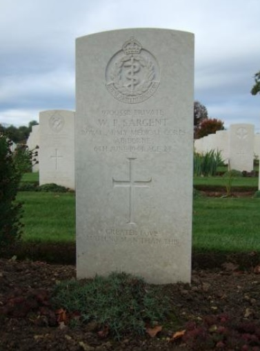 Philip Sargent is commemorated at Ranville War Cemetery